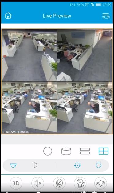 กล้องฟิชอาย 360 องศา Sunell Fisheye