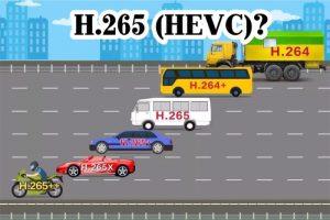 H.265 การบีบอัดไฟล์ Vido รูปแบบใหม่