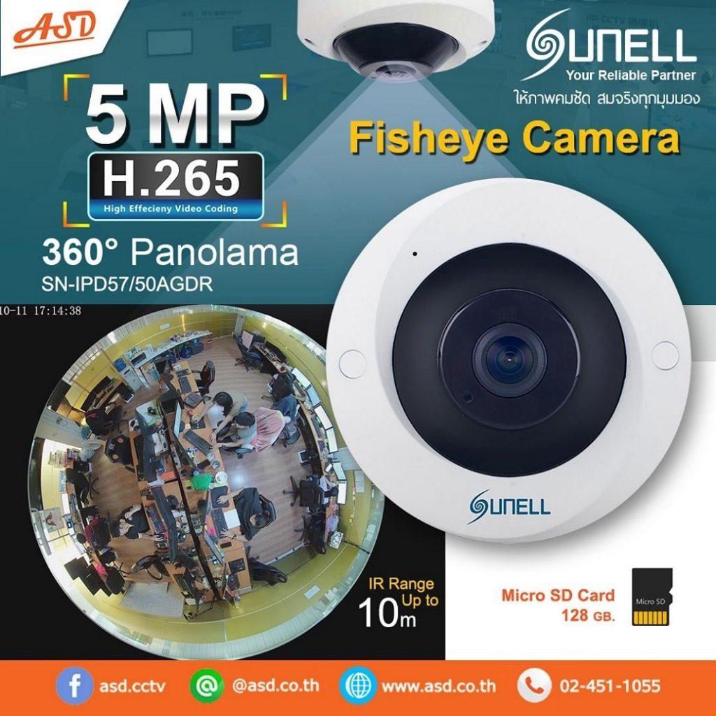 5MP. H.265 360องศา Panolama Fisheye Camera