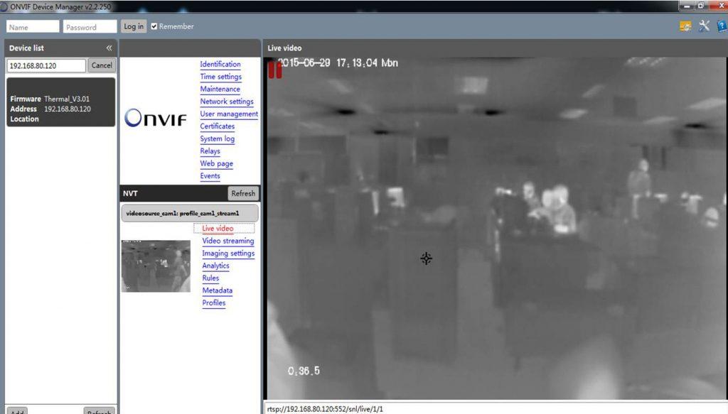 กล้อง CCTV ตรวจจับอุณหภูมิ Sunell
