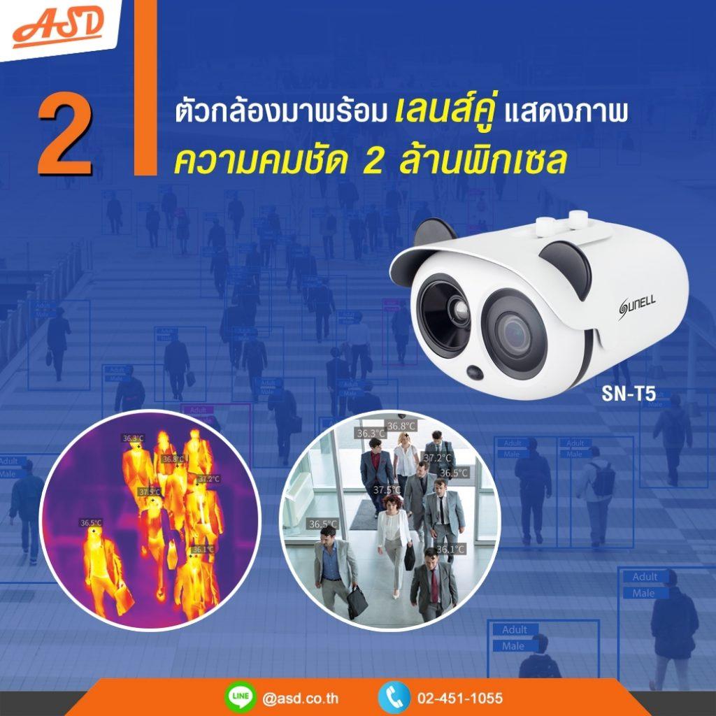 กล้อง Sunell ตรวจจับมนุษย์ มาพร้อมเลนส์คู่ รุ่น SN-T5