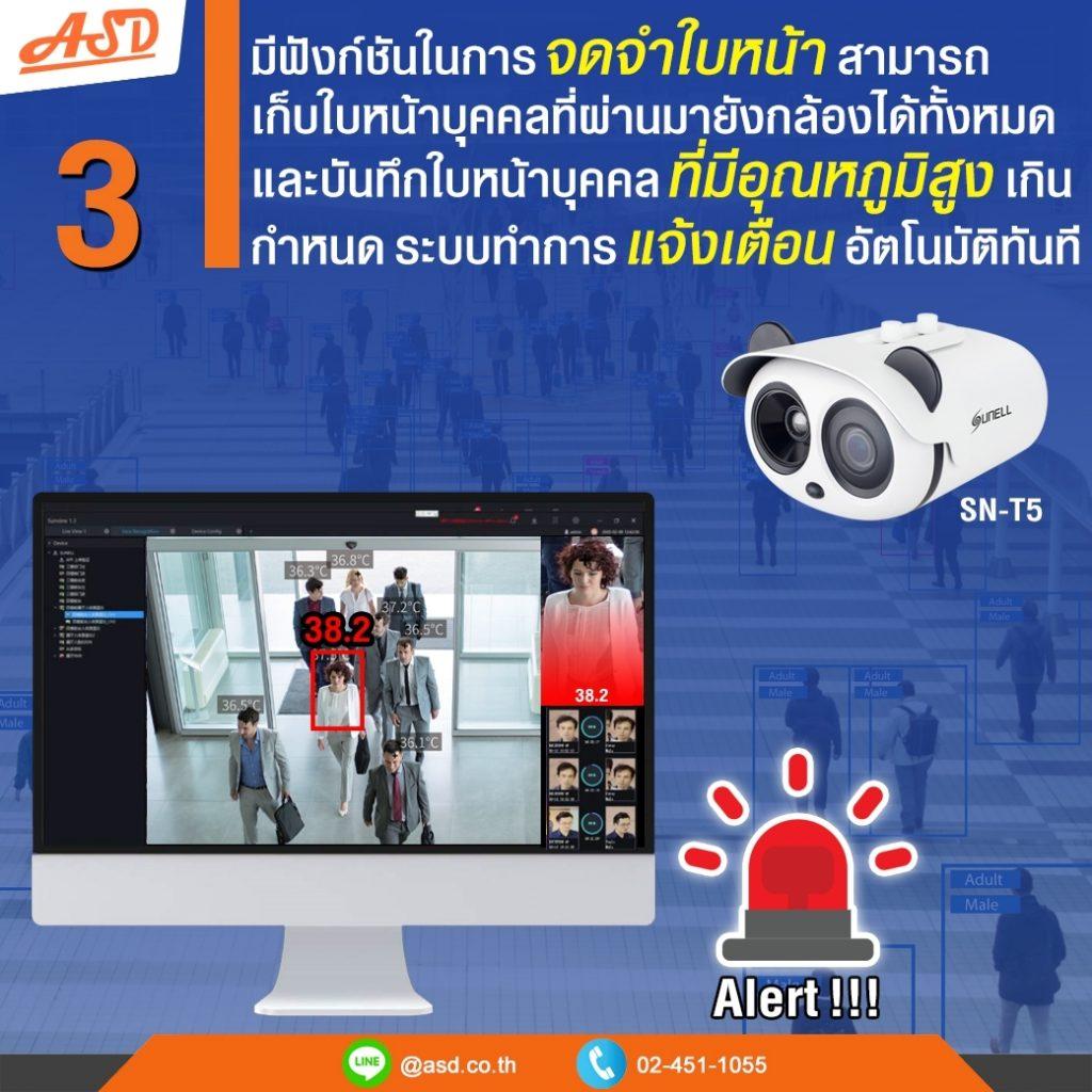 กล้อง Sunell มีฟังก์ชั่นก์การตรวจจับใบหน้า รุ่น SN-T5