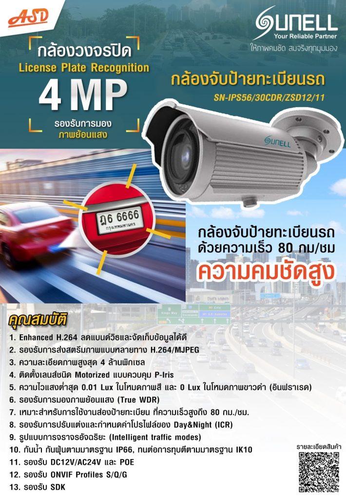 กล้องจับทะเบียนรถอัตโนมัติ รุ่น SN-IPS56/30CDR/ZSD12/11