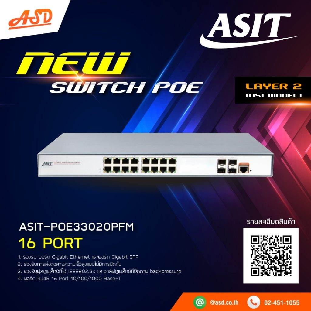 Switch POE ASIT-POE33020PFM