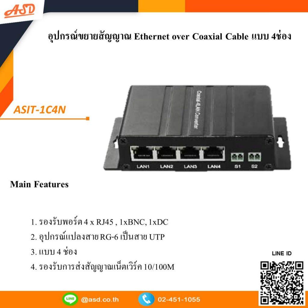 ตัวอุปกรณ์ขยายสัญญาณ Ethernet over Coaxial Cable