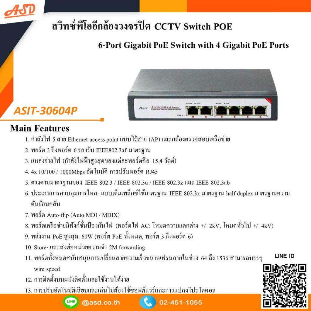แนะนำ PoE Switch สำหรับ CCTV